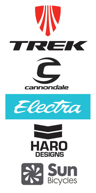 Logos of our bicycle brands